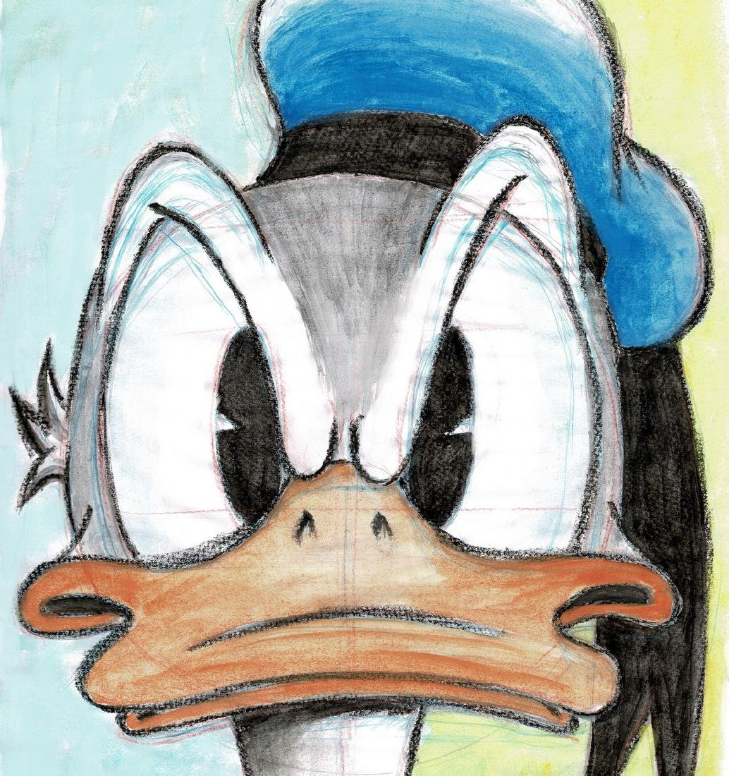 Donald Duck - Original Colored Watercolor Sketch - 2