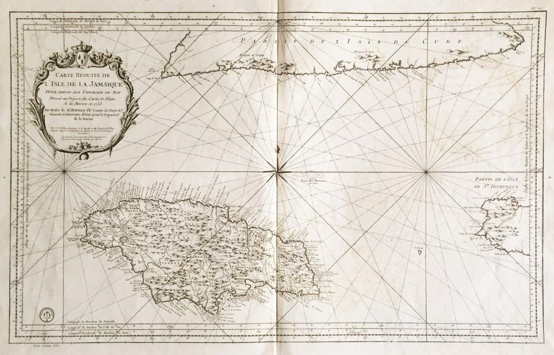 Bellin: Large Jamaica/South Cuba Map