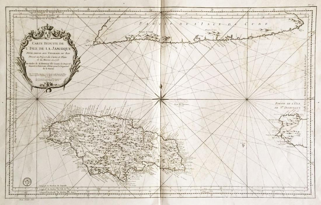 Bellin: Large Jamaica/South Cuba Map