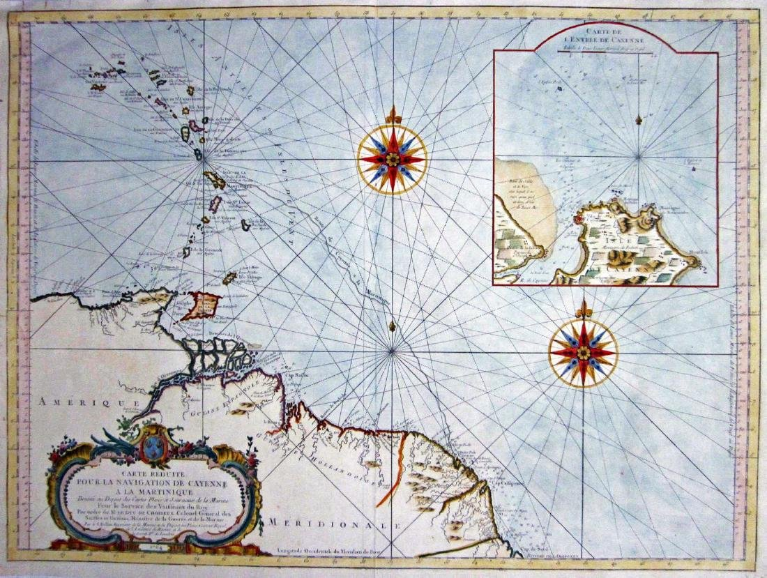 Bellin: Cayenne to Martinique Navigational Chart