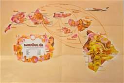1978 Hawaiian Airline Pictorial Map of Hawaii -- Hawaii