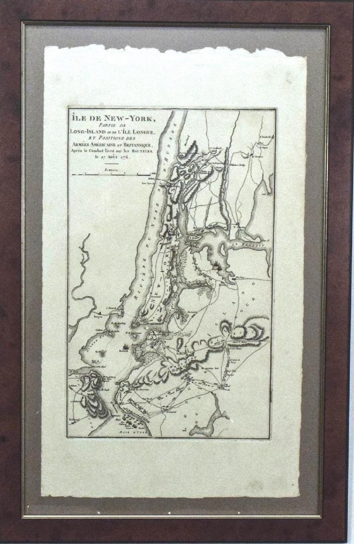 1807 Marshall Map Showing New York City in 1776 -- Ile