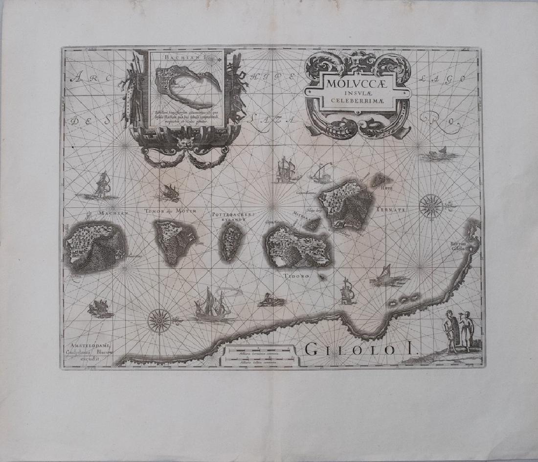 1640 Blaeu Map of the Spice Islands -- Moluccae Insulae