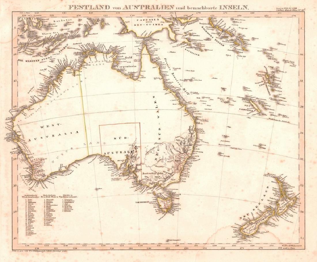 Festland Von Australien Und Benachbarte Inseln