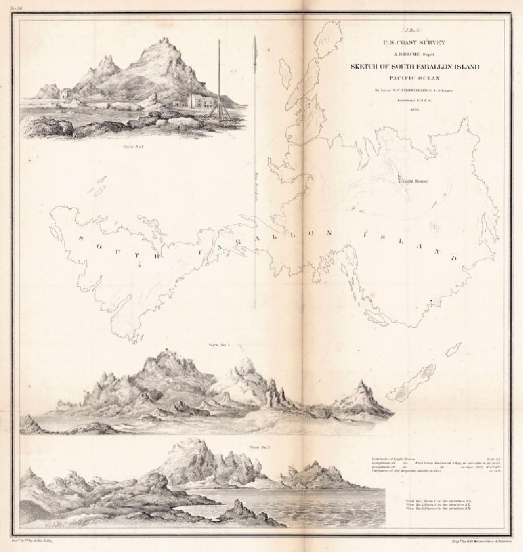 Sketch of South Farallon Island Pacific Ocean