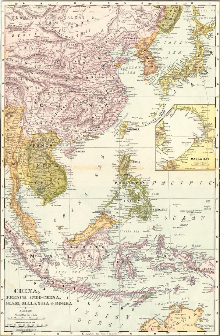 China, French Indo-China, Siam, Malaysia and Korea