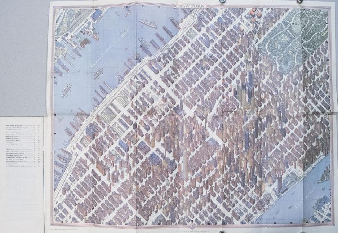 1968 Bollmann Pictorial Map of New York City -- New