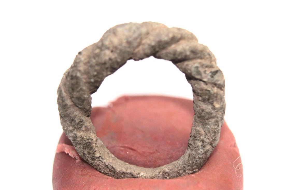 Viking Twisted Bronze Ring - 4
