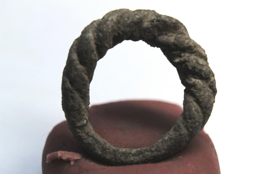 Viking Twisted Bronze Ring - 6