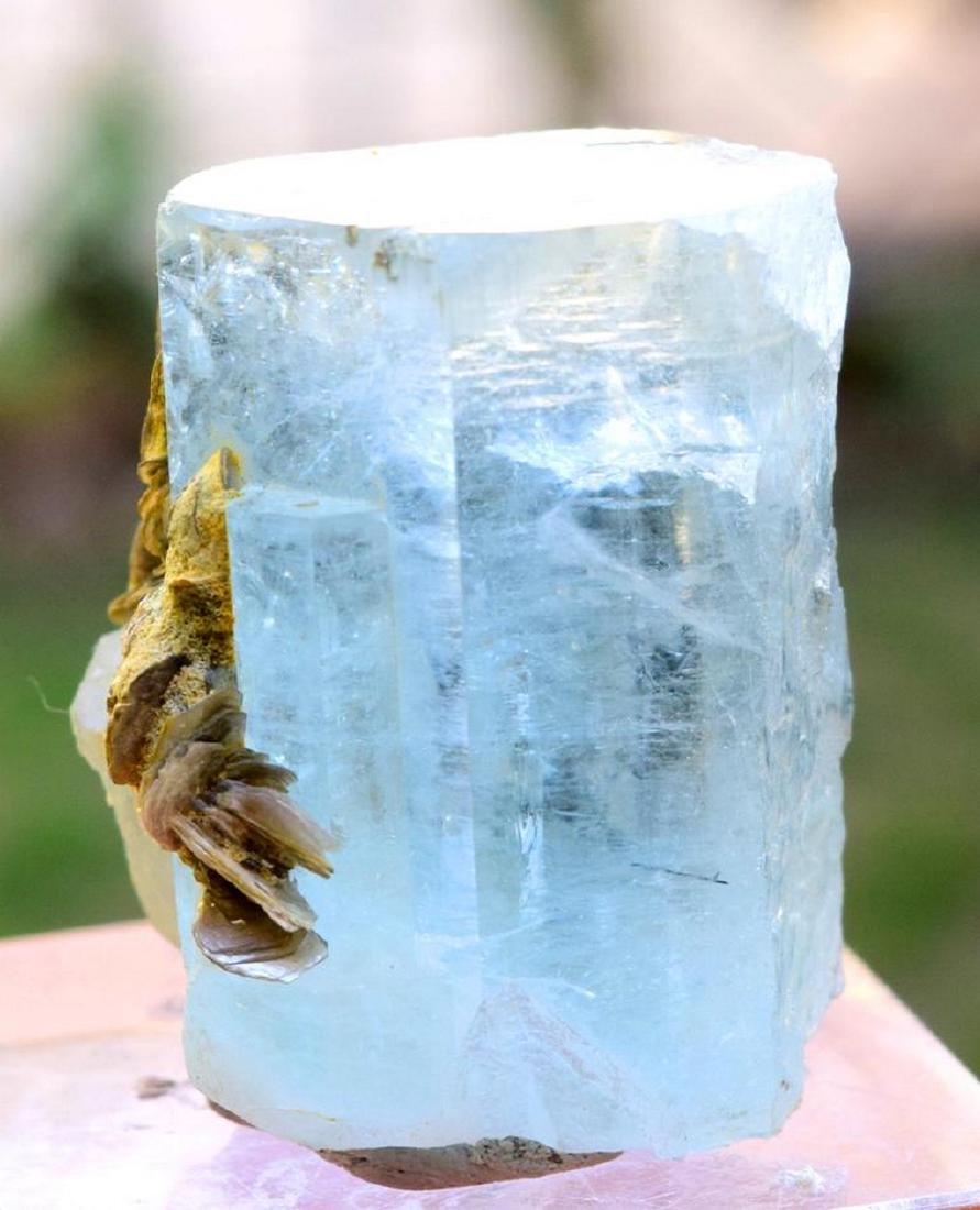 89 gram terminated and undamaged sky blue caolor gem - 5