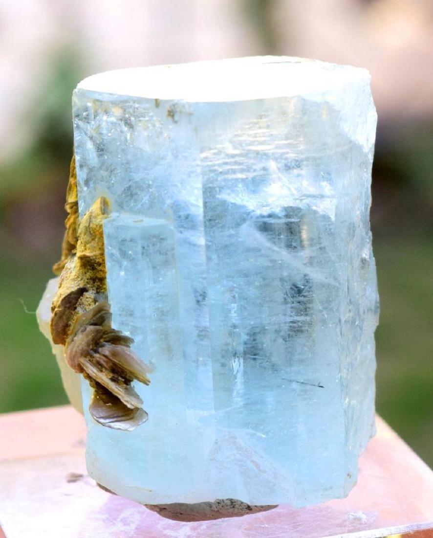 89 gram terminated and undamaged sky blue caolor gem - 6