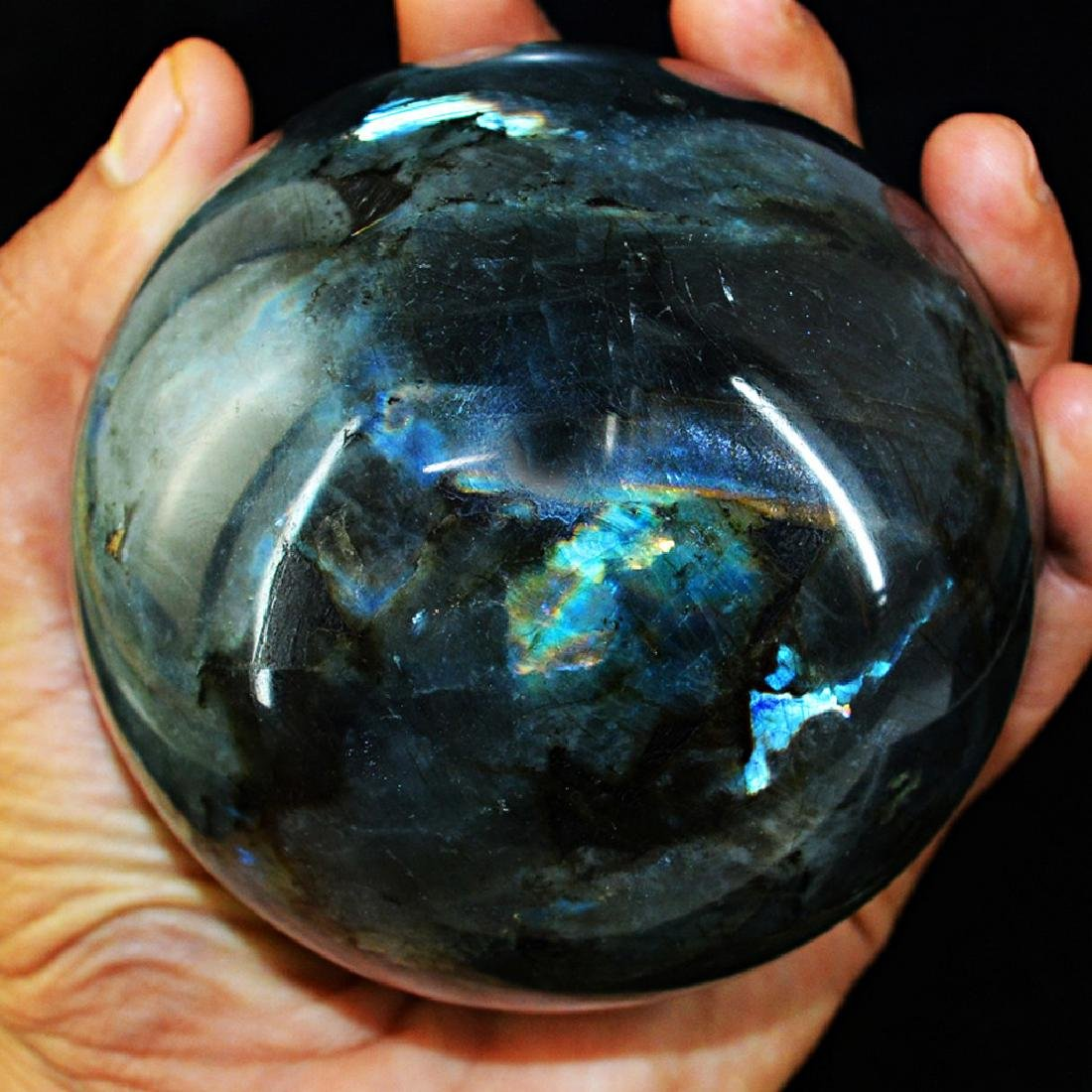 "Top Blue Flash Labradorite ""healing ball"""