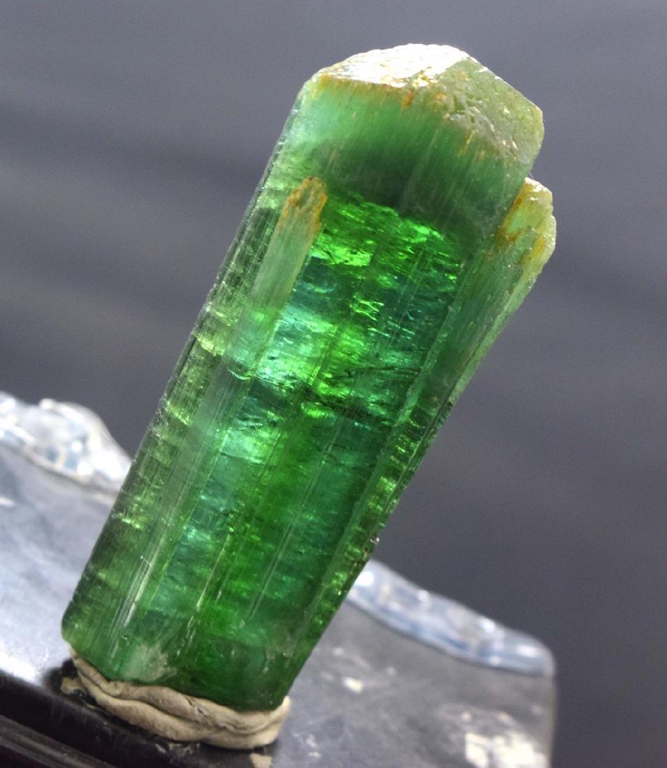 Terminated & Undamaged Neon Green Natural Tourmaline - 2