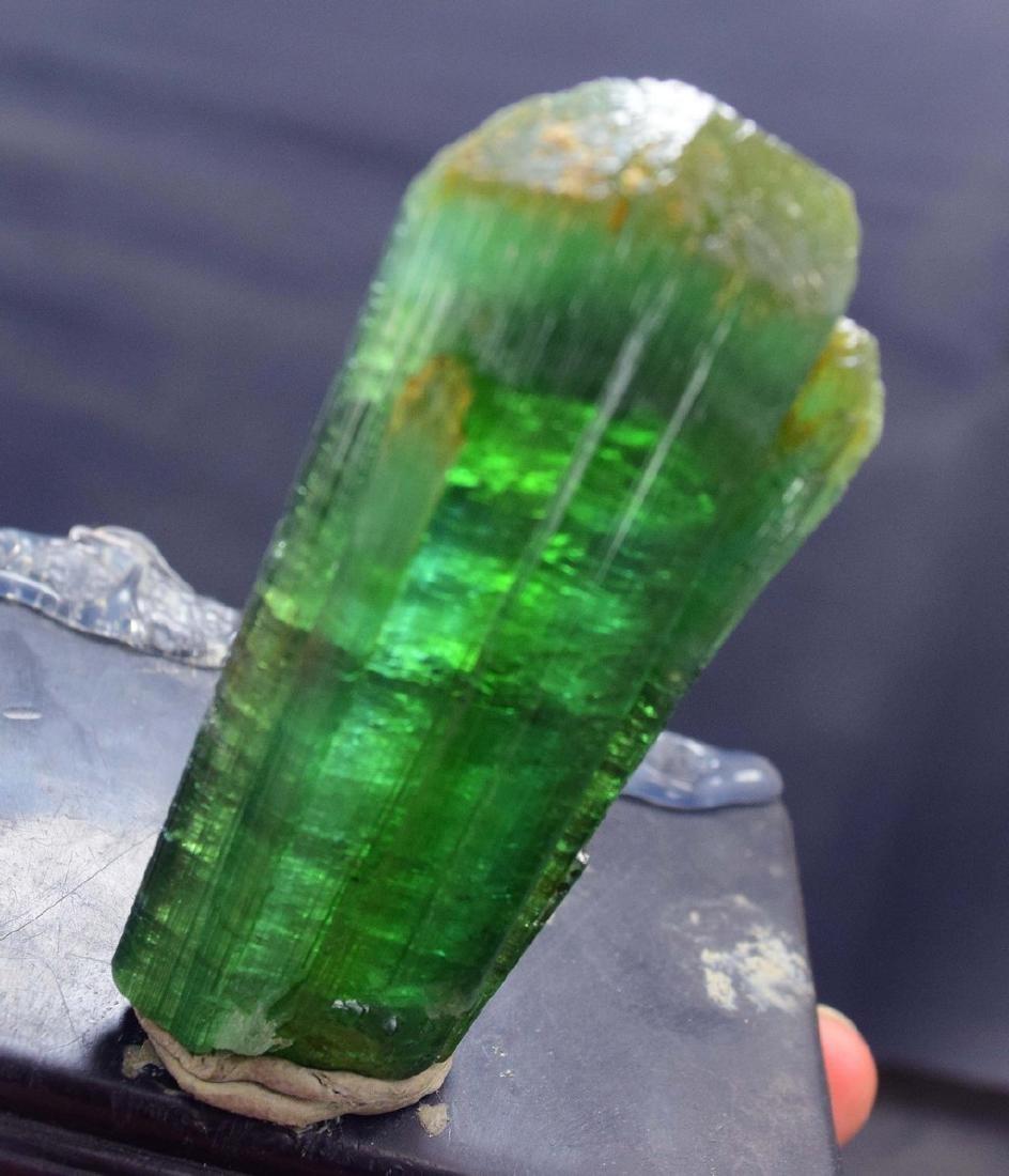 Terminated & Undamaged Neon Green Natural Tourmaline - 3