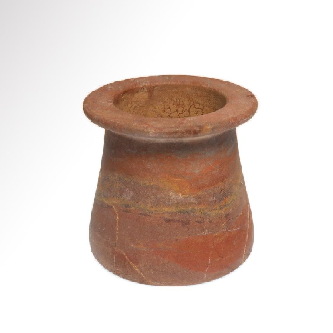 Egyptian Red Marble Vessel Jar, Early Dynastic, c. 2700