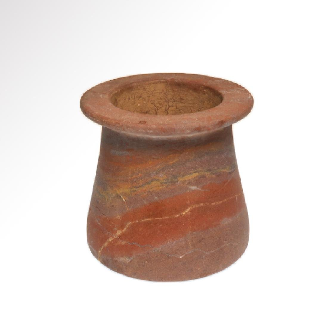 Egyptian Red Marble Vessel Jar, Early Dynastic, c. 2700 - 2
