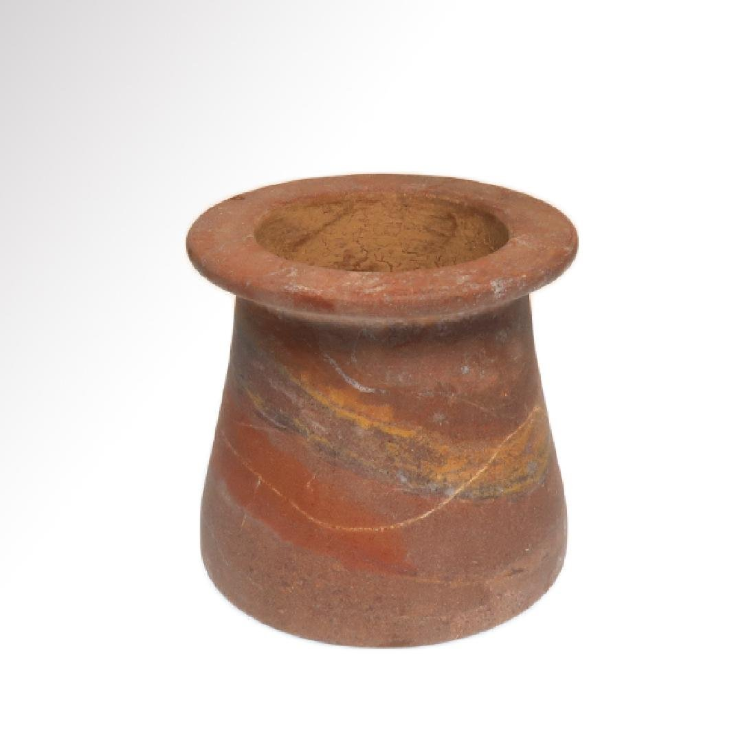 Egyptian Red Marble Vessel Jar, Early Dynastic, c. 2700 - 3