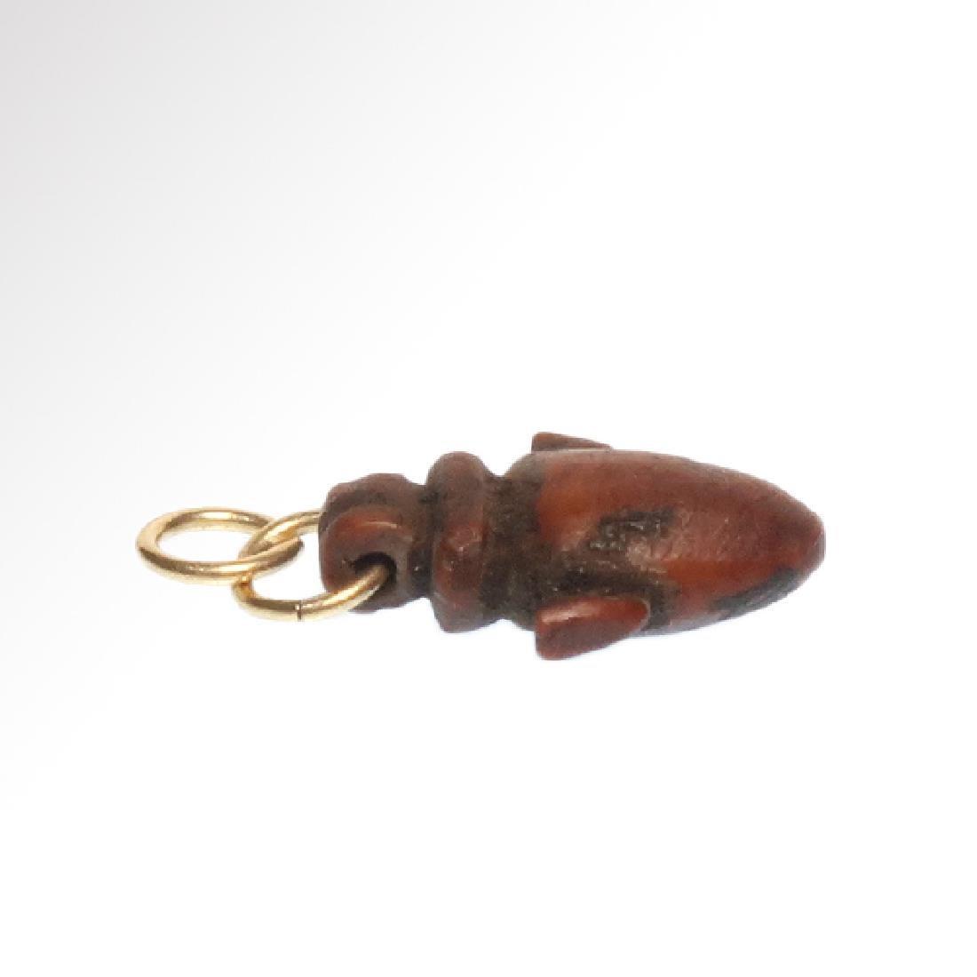 Egyptian Red Jasper Heart Amulet, New Kingdom, c. - 3