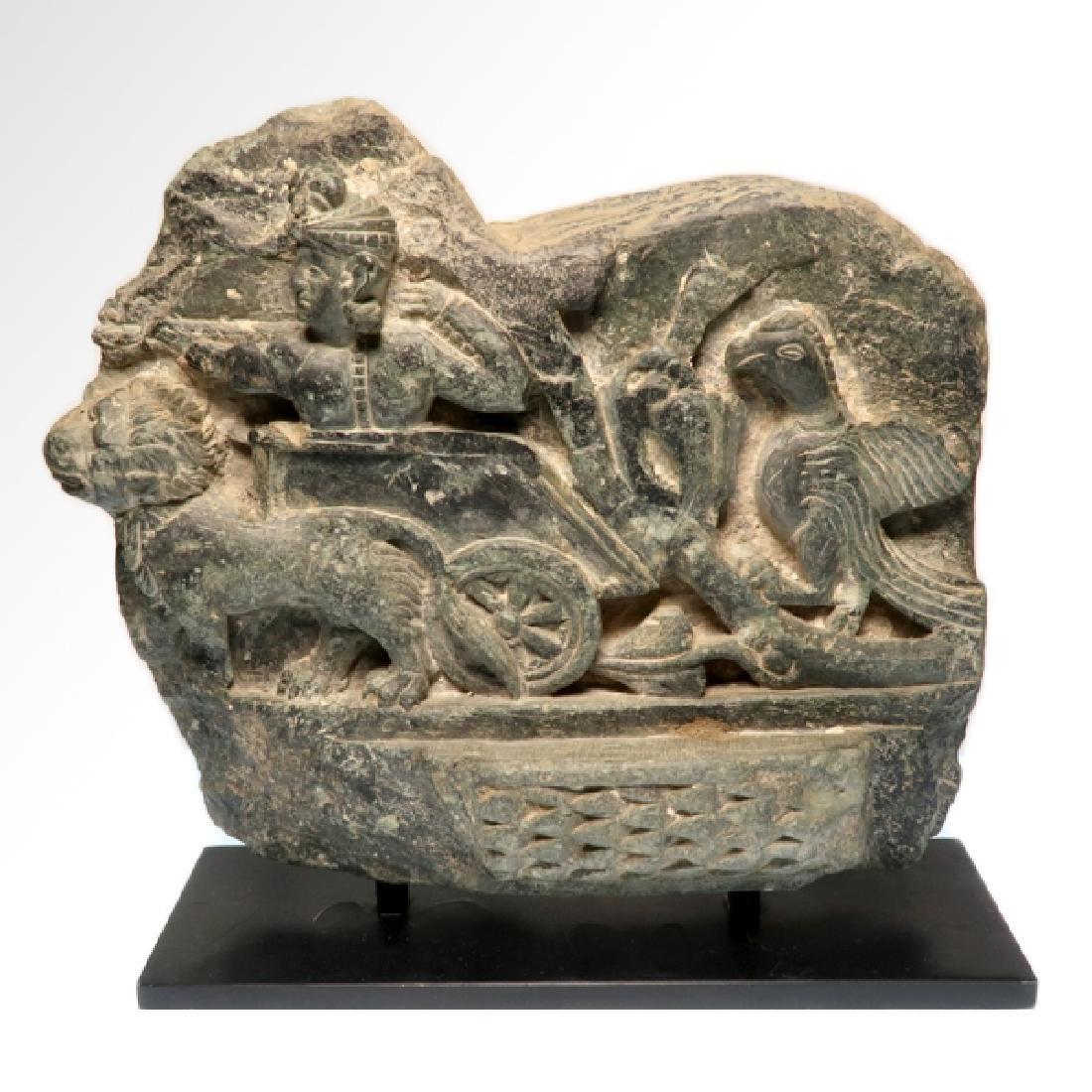 Large Gandhara Schist Relief with Bodhisattva, c.