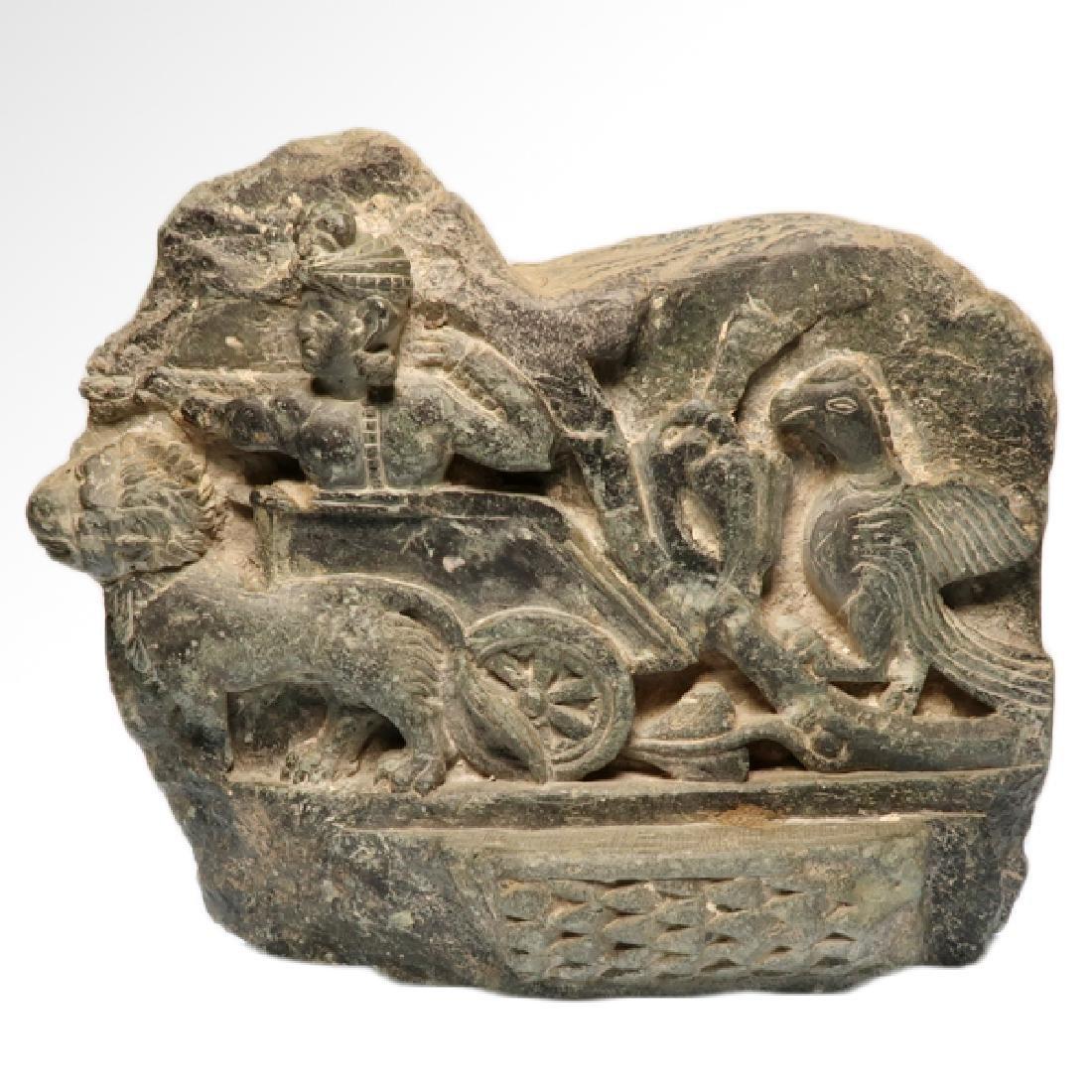Large Gandhara Schist Relief with Bodhisattva, c. - 2