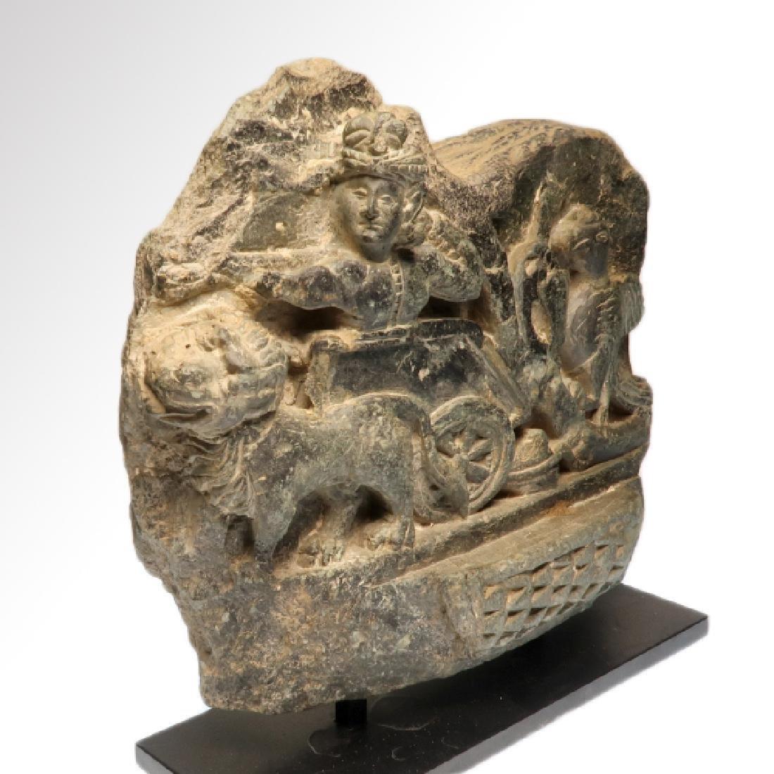 Large Gandhara Schist Relief with Bodhisattva, c. - 6