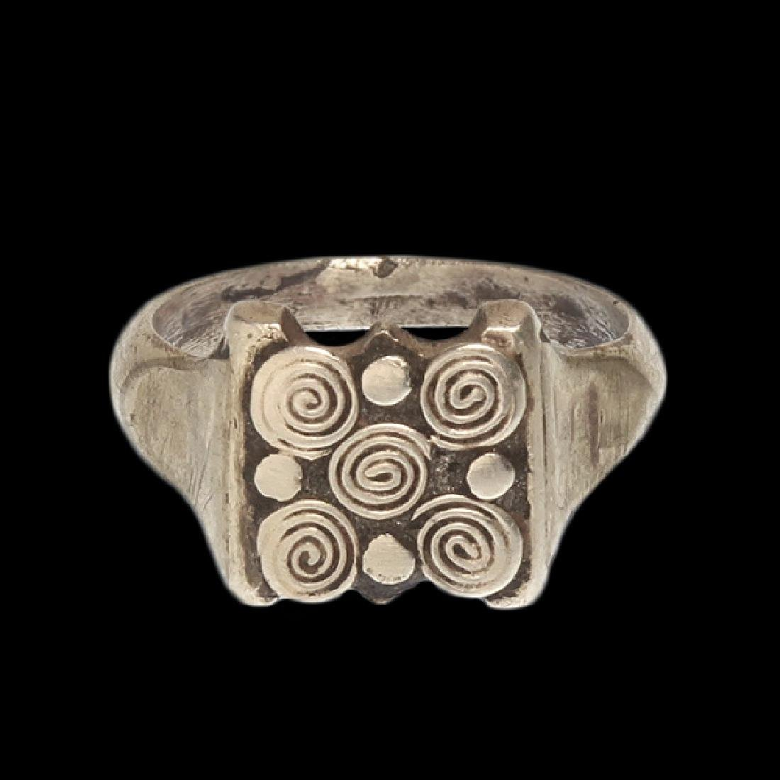 Viking Silver Ring with Spiral Patterns, c. 10th - 2