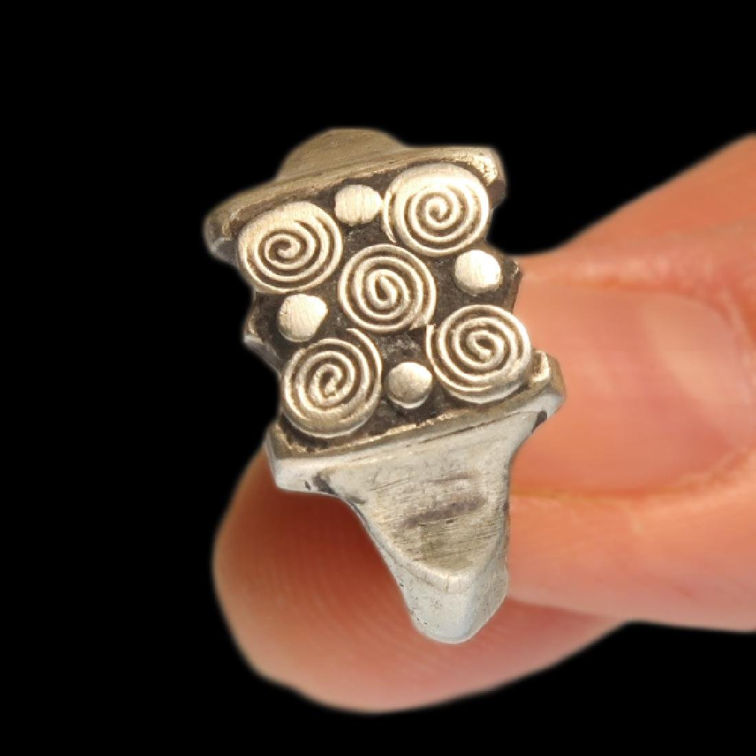 Viking Silver Ring with Spiral Patterns, c. 10th - 3