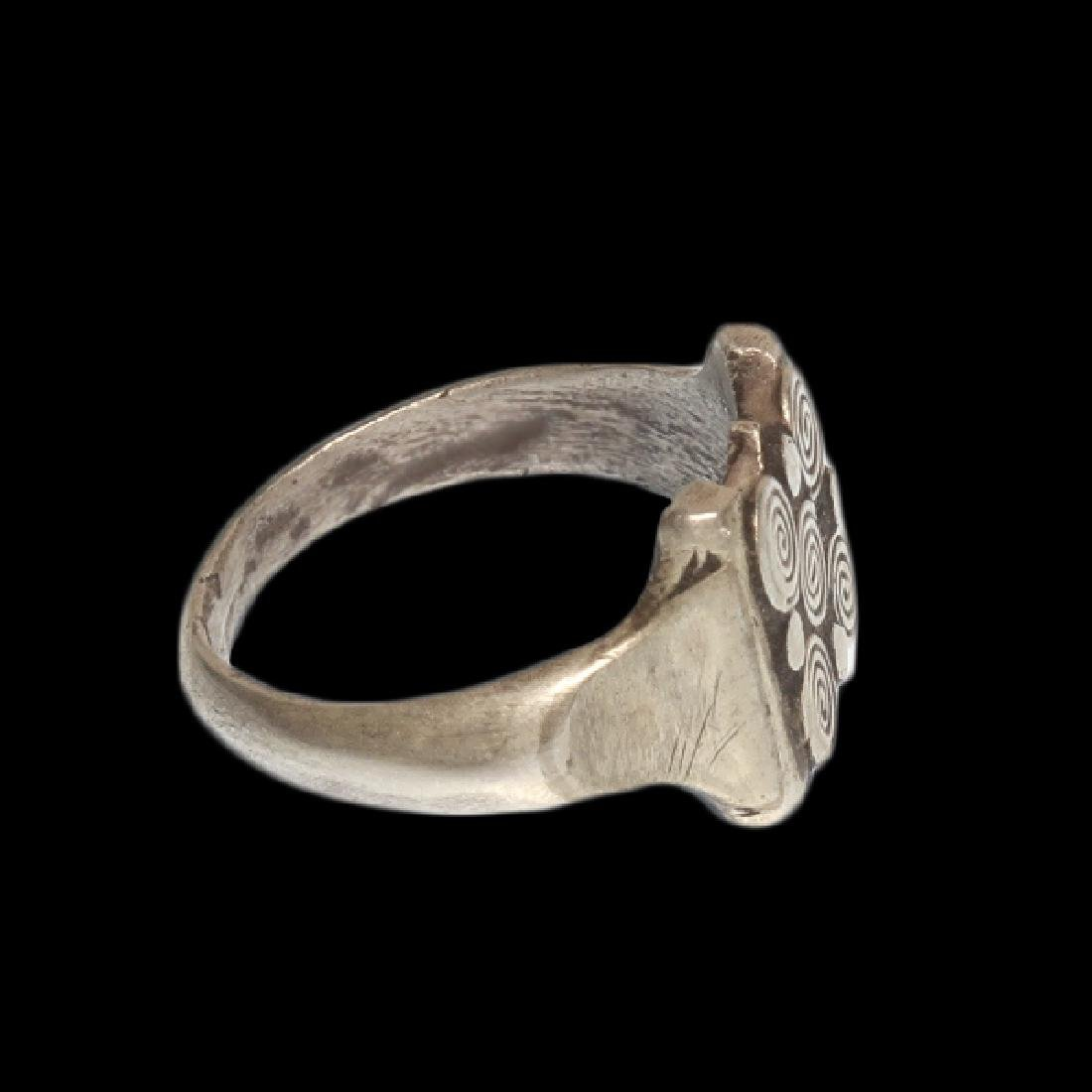 Viking Silver Ring with Spiral Patterns, c. 10th - 5