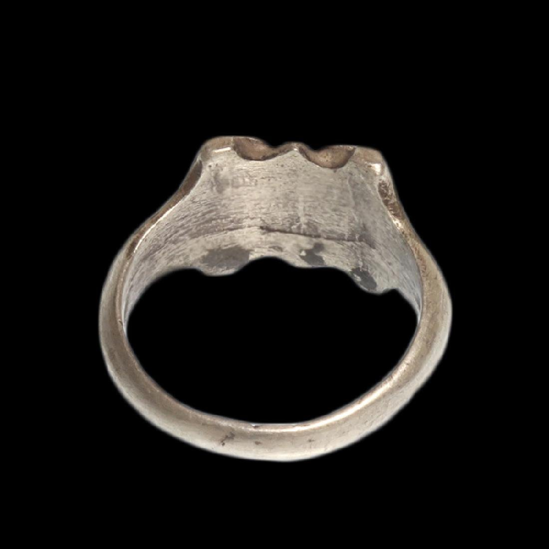Viking Silver Ring with Spiral Patterns, c. 10th - 6