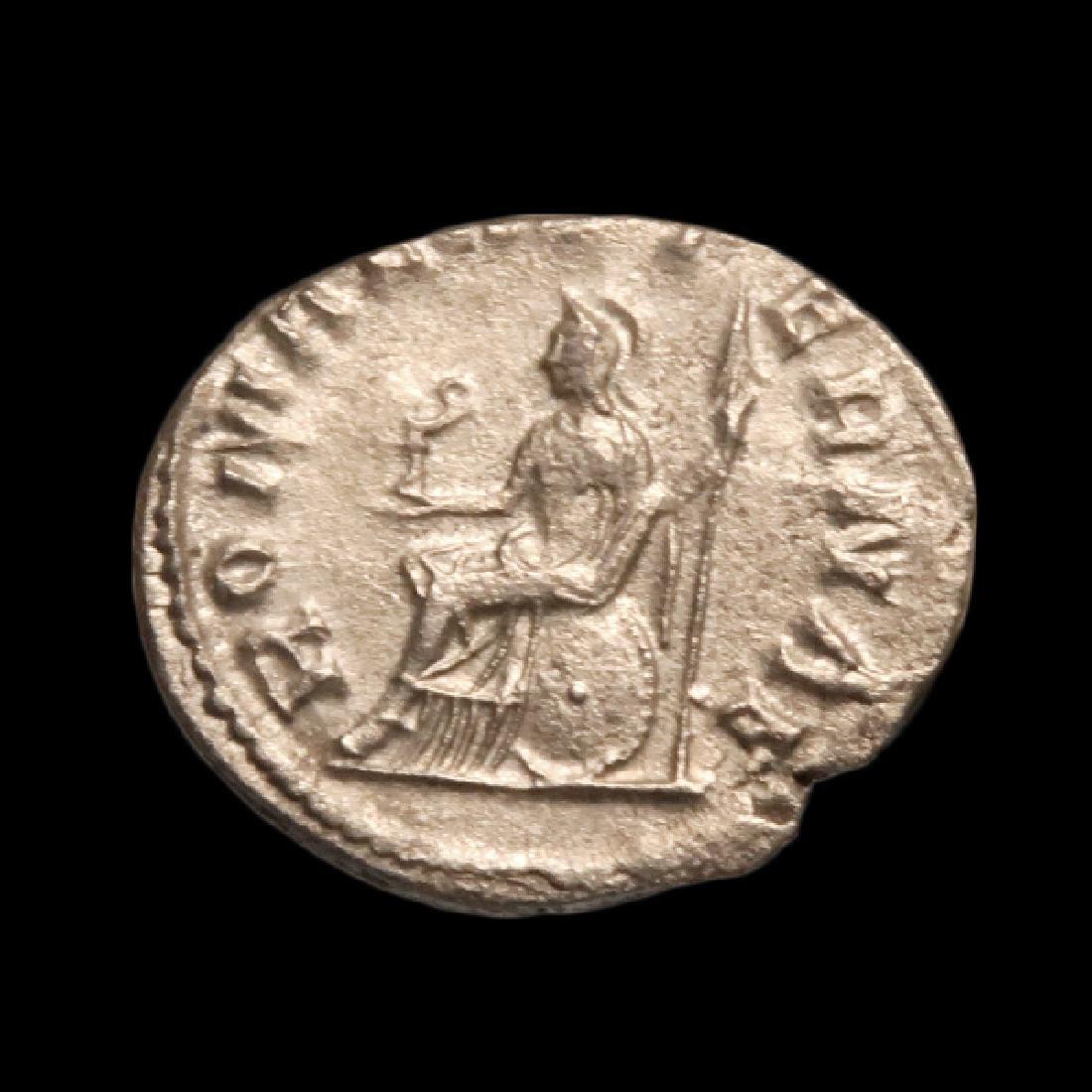 Emperor Valerian, Silver Denarius, Roman, c. 253-260 - 2