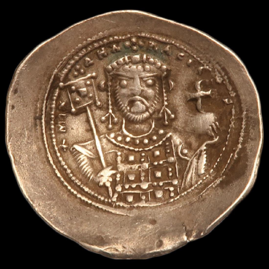 Byzantine Coin, Electrum Histamenon Nomisma  Michael - 2