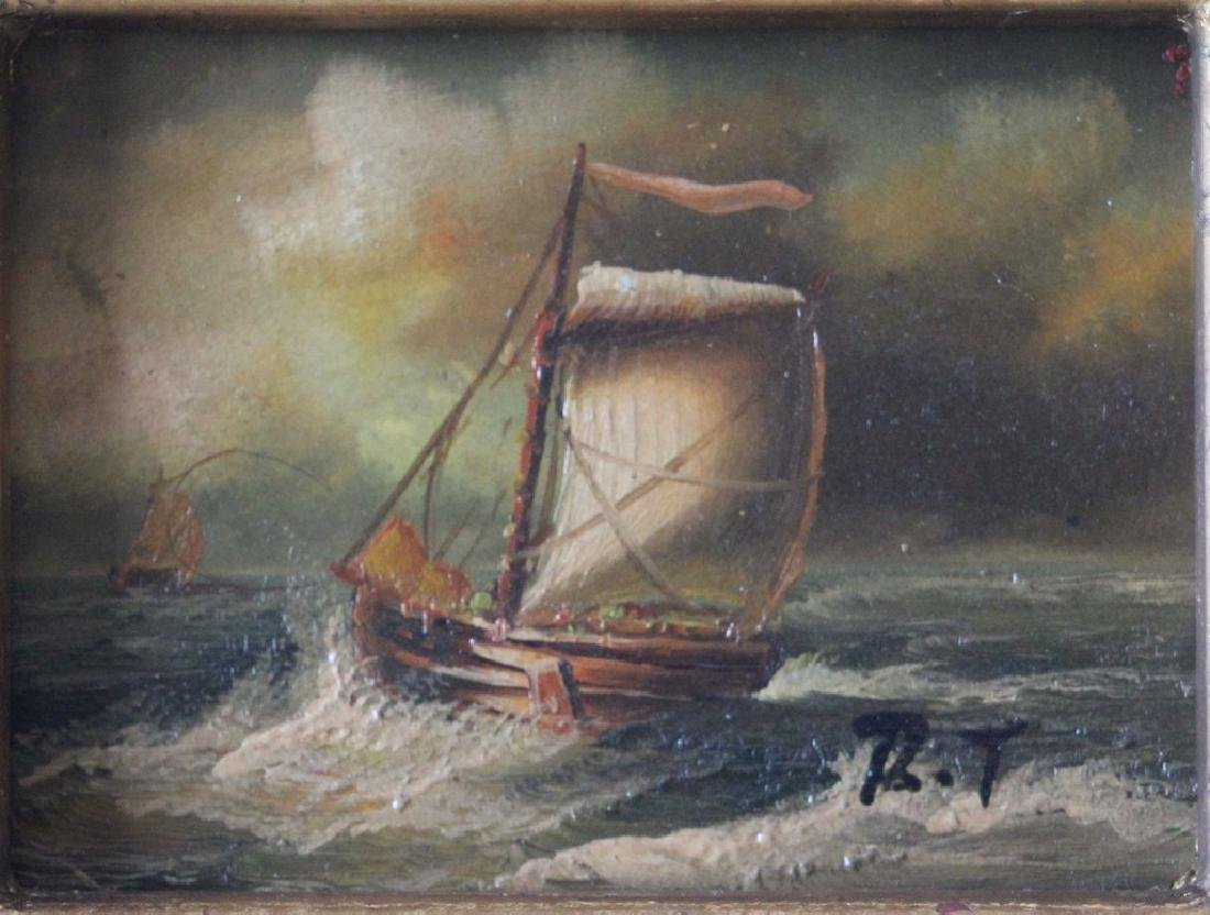 Rene Tempur - Miniature Maritime Dutch Painting 1920 - 4