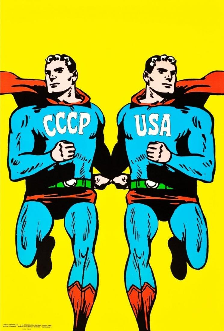 Roman Cieslewicz CCCP USA Superman 1968 Pop Art Poster