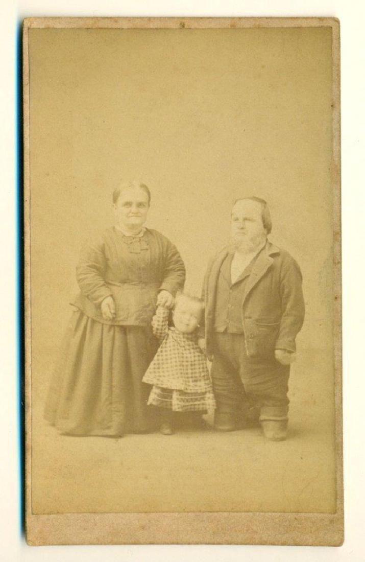1870 Midget or Dwarf Family 3 Parents Baby Cadwallader