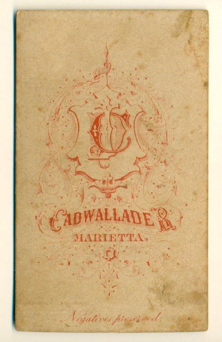 1870 Midget or Dwarf Family 3 Parents Baby Cadwallader - 2