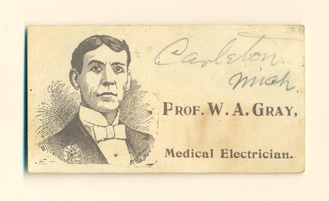 1890 Quack Medicine Dr Trade Card Prof. Wa Gray