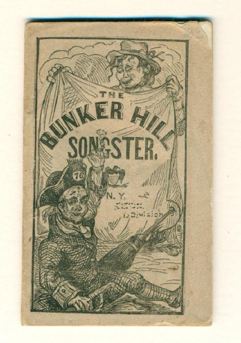 1850 the Bunker Hill Songster by Murphy New York City