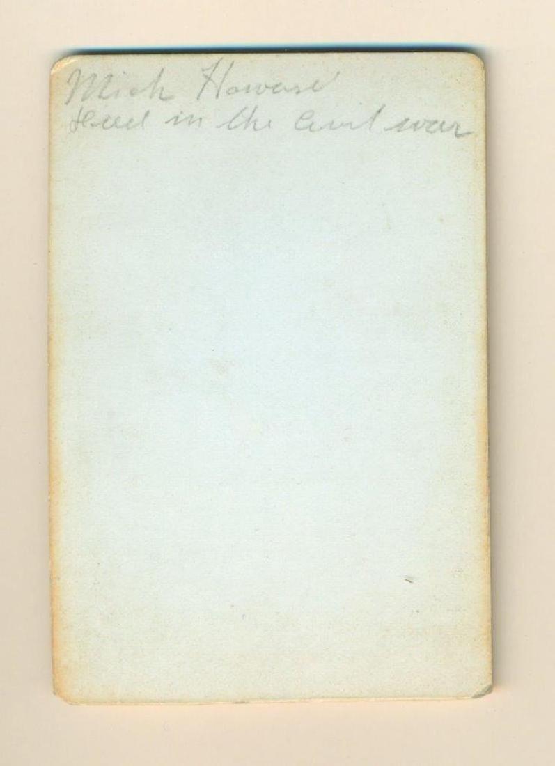 1860 S Civil War Soldier Id'd Mick Howard Killed Died - 2