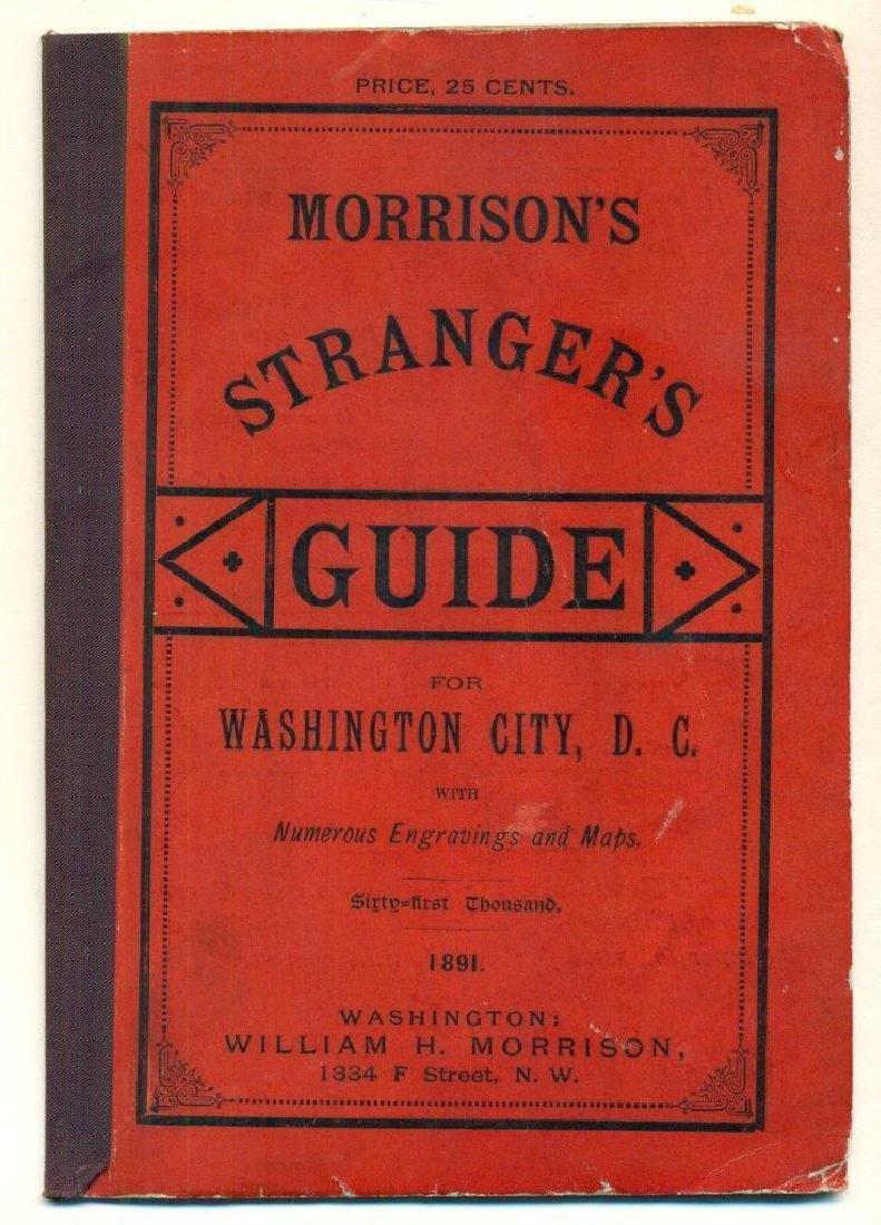 Antique 1891 Morrison's Stranger Guide for Washington