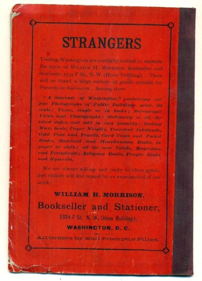 Antique 1891 Morrison's Stranger Guide for Washington - 2