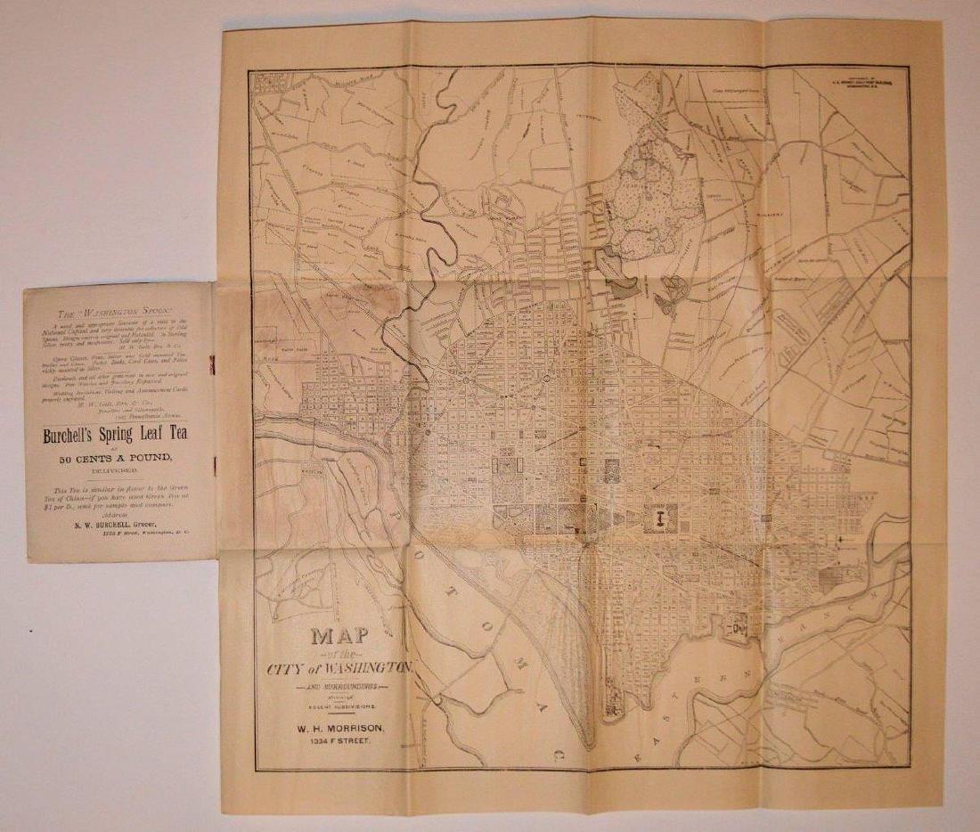 Antique 1891 Morrison's Stranger Guide for Washington - 3