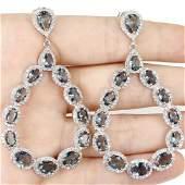 London Blue Topaz, Silver Earrings