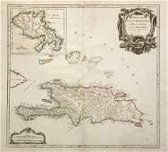de Vaugondy Hispaniola and Martinique