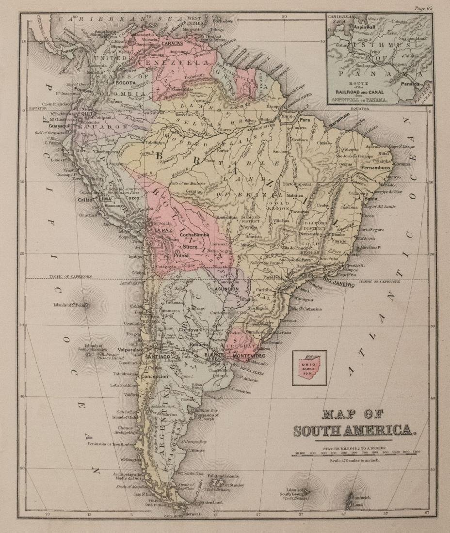1887 Cowperthwait Map of South America -- Map of South