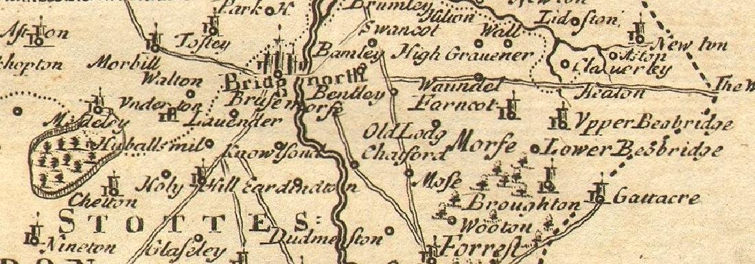 Morden: Antique Map of Shropshire, 1772 - 2