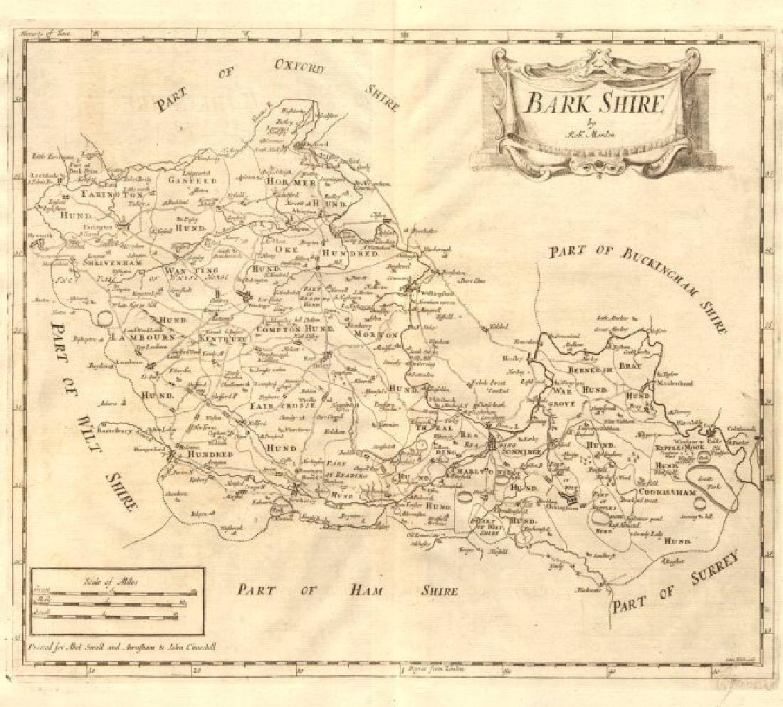 Morden: Antique Map of Berkshire, 1772