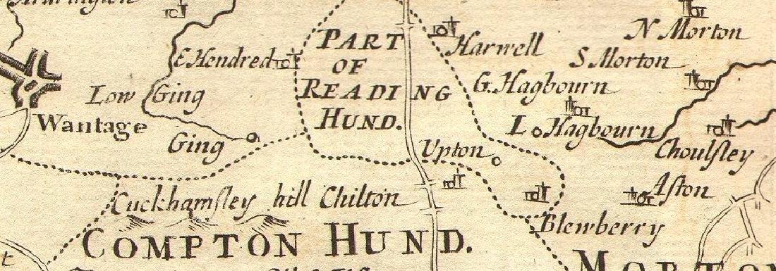 Morden: Antique Map of Berkshire, 1772 - 2