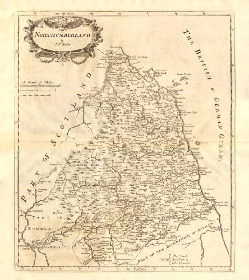 Morden: Antique Map of NORTHUMBERLAND, 1772