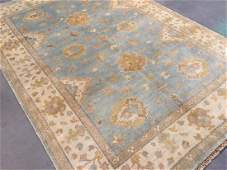 HAND KNOTTED MUTED VINTAGE DESIGN RUG 6.3x9