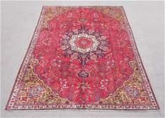 Hand Woven Vintage Persian Tabriz Rug 109x74